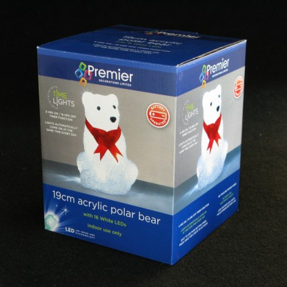battery operated polar bear 16 led timer light. Black Bedroom Furniture Sets. Home Design Ideas