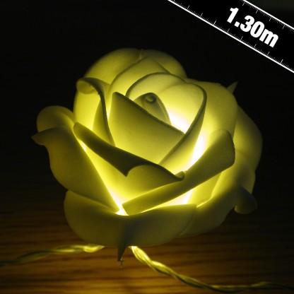 warm white led rose string lights. Black Bedroom Furniture Sets. Home Design Ideas