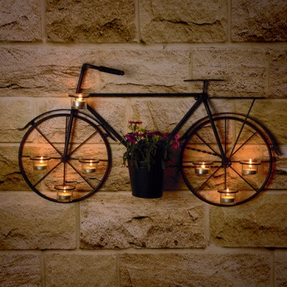 Bicycle Plant Pot Candle Holder