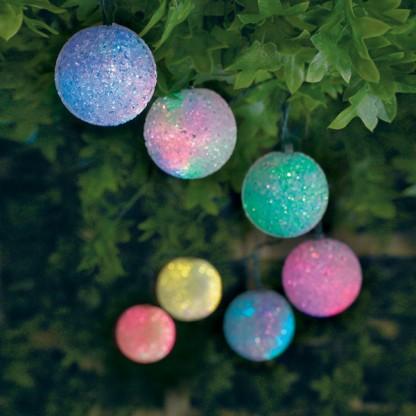 10 Colour Change Solar Balls