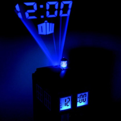 doctor who tardis projection alarm clock instructions