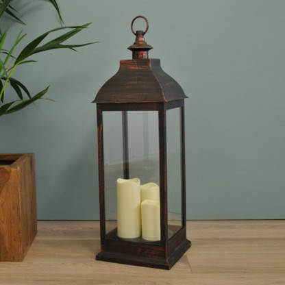 70cm Traditional Flickering LED Lantern