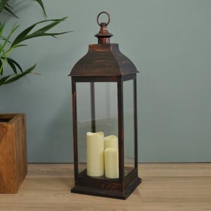 70cm Traditional Flickering LED Lantern