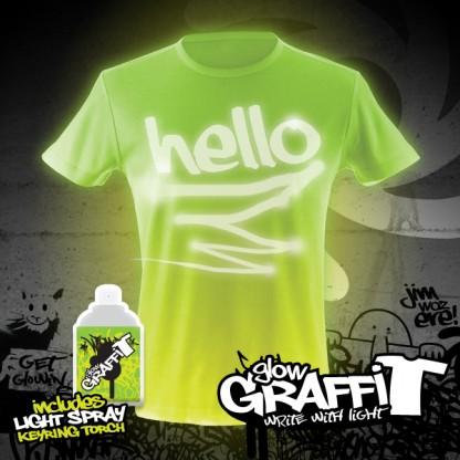 Glow Graffi T Tee Shirt