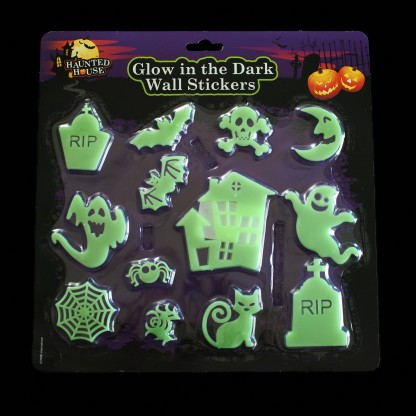 glow in the dark halloween shapes glow in the dark moon and stars wall sticker decal ebay