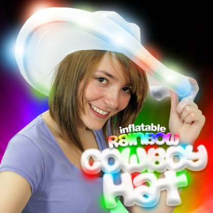 Flashing Inflatable Cowboy Hat