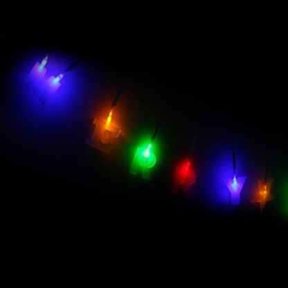 String Of Christmas Lights Image : Multicoloured LED Merry Christmas String Lights