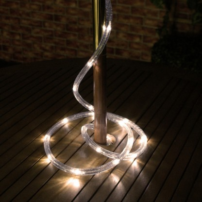 Solar rope lights warm white