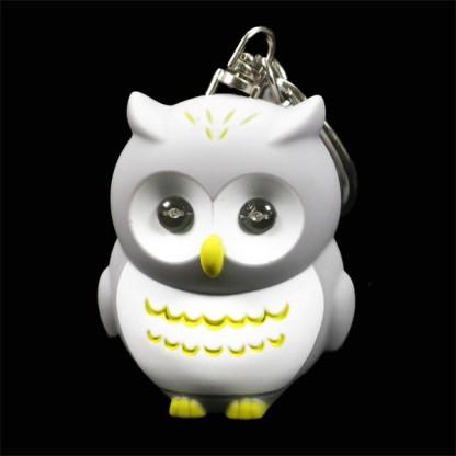 Owl torch keyring