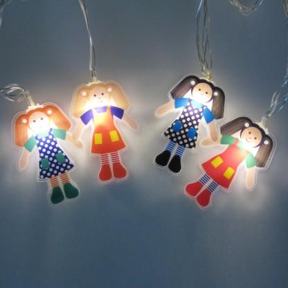 Children s Rag Dolls String Lights