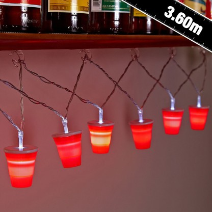 Party Cup String Lights : Red Cup Party Lights