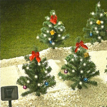 Solar christmas trees garden decorations for Tree decorations for garden