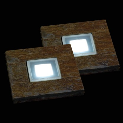 Solar slate stepping stones for Solar powered glow stepping stones