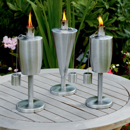 Garden table oil burners