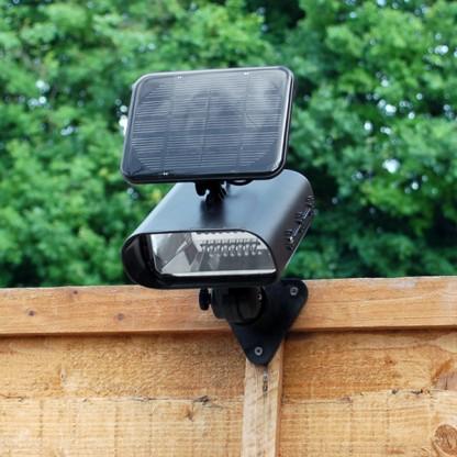 Solar uplighters for the garden