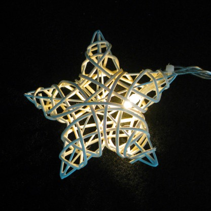 Rattan Wicker Star Stringlights
