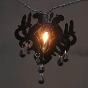 10 Black Flocked Chandelier Lights