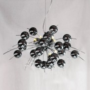 10 Lamp Chrome Ball Chandelier