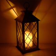 28cm Lantern with Dancing Flame LED Candle