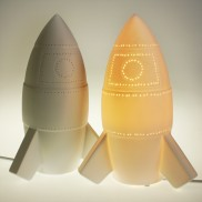 3D Ceramic Lamp Rocket