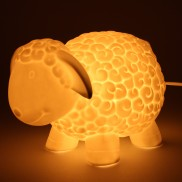 3D Ceramic Lamp Sheep