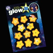3d Glow Sleepy Stars