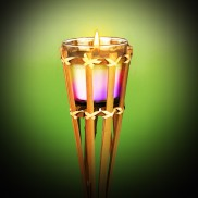 95cm Bamboo Torch with Citronella Candle