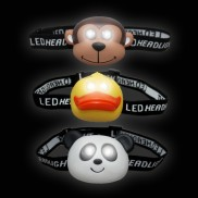 2 LED Animal Head Torch