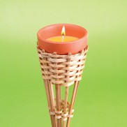 Bamboo Torch Set with Citronella Candles