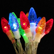 10 Battery Operated Jewelled LED Cone Lights