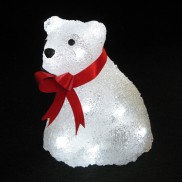 Battery Operated Bear 16 LED Timer Light