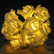 Battery Operated Warm White Rose Lights (17831)