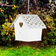 Birdhouse Hanging Tealight Holder