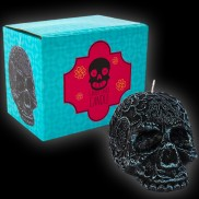 Black Candy Skull Candle