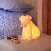 Bone China Dog Lamp