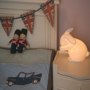 Bone China Rabbit Lamp
