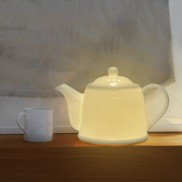Bone China Teapot Lamp (15700)