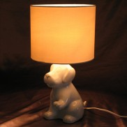 Ceramic Dog Table Lamp (17324)