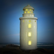 Ceramic Lighthouse Candle Holder (BD56)