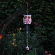 Solar Snowy Owl Windchime