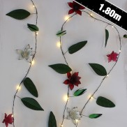 Clematis Metal Floral String Lights