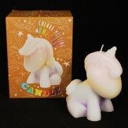 Colour Melting Unicorn Candle