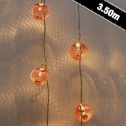 24 LED Copper Lantern Lights