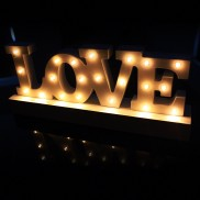 "Decorative ""LOVE"" Carnival Light"