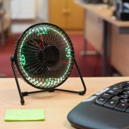 Desktop LED Clock Fan