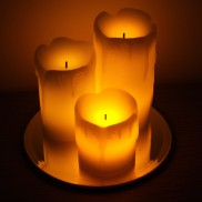 Drippy Wax LED Candles (3 Pack)