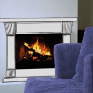 Fireplace Sticker