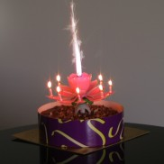 Pink Flower Musical Birthday Candle