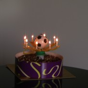 Football Trophy Musical Birthday Candle
