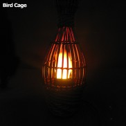 Bird Cage Silk Flame Lamp 